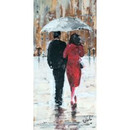 Spacer w deszczu