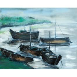 łodzie w zatoczce