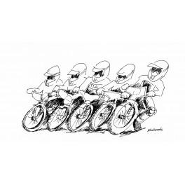 rysunek , satyra - żużel 6